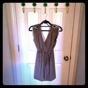 Gorgeous Grey Dress with jeweled embellishments